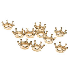 10xKC Gold Color Crown Connector Charms Loose Bead Jewelry Making Finding