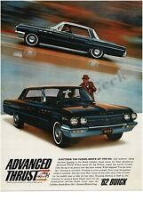 1962 BUICK Le Sabre Black 4-door Hardtop VTG PRINT AD