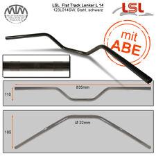 LSL Flat Track Guidon Acier Noir 22,2mm