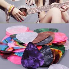 50pcs Random Color Guitar Picks Plectrum Celluloid Thin Light 0.46mm