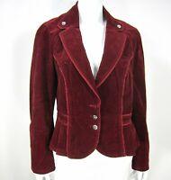 White House Black Market  Long Sleeve Corduroy Blazer Jacket Size 14 Red