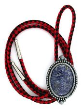 Natural Oval 40x30 Lapis Lazuli Cab Cabochon Gemstone Bola Bolo Tie Cord Tips