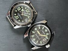 1970s Ingraham Skin Diver & Lucerne Marine Luxusdiver Swiss Mens Watch Lot Bezel