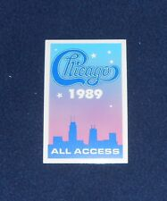 Chicago 1989 All Access OTTO Backstage Pass