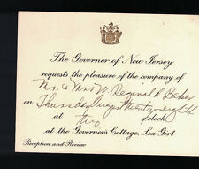Governor of New Jersey Reception & Review Invite Sea Girt Governor's Cottage