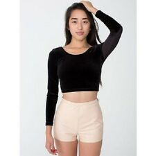 NWT American Apparel Women's Leather Tap Shorts in Beige Size LARGE