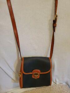Dooney Bourke AWL Leather Black Mini Crossbody Belt Bag, Metal Duck Hang Tag