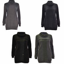 Women's Polyester Cowl Neck Long Sleeve Jumpers & Cardigans