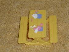 Fisher Price Sweet Streets Dollhouse Yellow Preschool Art Craft Picnic Table