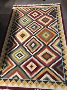 Handwoven Rugs in Southwest Designs  ss14016 Burgundy