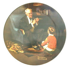 """Norman Rockwell Plate """"The Tycoon�-Certificate/Box ed"""