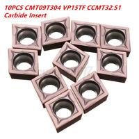 10X 14mm CCMT09T304 VP15TF Wendeschneidplatten Wendeplatten für Edelstahl Stahl