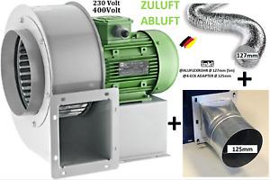 Radialgebläse Radial Axial Ventilator Zentrifugal Lüfter Abluft Industrie Zuluft