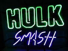 "17""x14""Hulk Smash Neon Sign Light Super Hero Wall Decor Handcraft Visual Artwork"