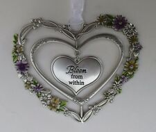 zzz Bloom from within Blooming Lovely 3d Heart Ornament ganz