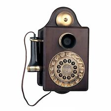 REPLICA WOODEN NOVELTY RETRO ANTIQUE VINTAGE STYLE PARAMOUNT 1903 WALL PHONE NEW