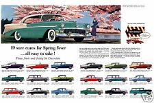 "5x7"" photo REPRINT GM CHEVROLET ADVERTISING 19-1956 ""CURES"" ART CARD GLOSSY"