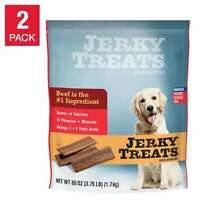 Jerky Treats American Beef Dog Snacks 60 oz, 2-count FRESH