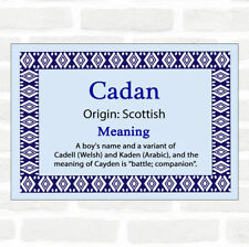 Cadan Name Meaning Blue Certificate