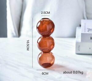 Glass Bubble Vase Creative Arrangement Hydroponic Flower Spherical Art Ornaments