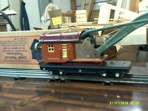 Lionel O gauge Crane Car #810 with Box