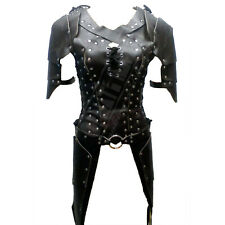 Womens Black Real Leather Armour Halloween Costume LARP Character Costume