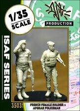 1/35 Scale Resin kit - ISAF Series French female soldier w/ ANP policeman