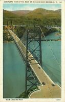 DB Postcard NY I196 Aeroplane View of Bear Mountain Hudson River Bridge New York