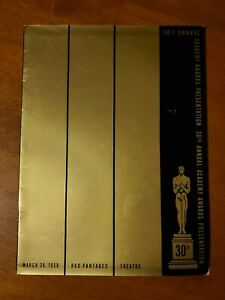 30th Annual Academy Awards Program 1958