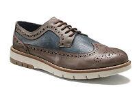 KEYS 3047 FANGO BLU scarpe uomo francesine inglesine sneakers mocassini pelle
