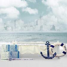 6x8ft Vinyl Nautical Board Deck Anchor Sailor Lifebuoy Photo Backdrop Background