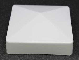Fence Post Pvc or Vinyl Cap Plastic White True 4 x 4 pyramid  4x4 100 MM
