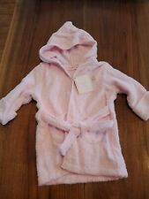 First Impressions Baby Girl Pink Hooded Terrycloth Robe 0-9 Months New
