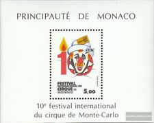 Monaco Block27 (complete issue) used 1984 circus festival