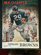 DEC 9 1962 NFL PROGRAM CLEVELAND BROWNS VS NEW YORK GIANTS INCL TICKET STUB