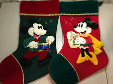 Vintage Disney Mickey Mouse & Minnie Mouse Christmas Stockings
