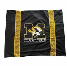 University of Missouri Mizzou Tigers Pillow Sham with Jersey Mesh Fabric College