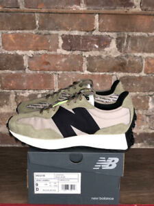 NEW BALANCE SHOES STYLE MS327IB COLOR ALUMINUM / COVERT GREEN