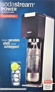 SodaStream NEU + OVP POWER mit Zubehör Sparset black/silver VOLLAUTOMATISCH