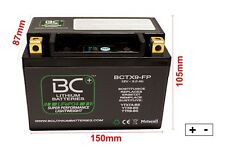 Motorrad Batterie Lithium YTX9-BS ytr9-bs LiFePO4 12v 180CCA positiv links