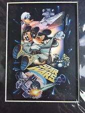 DISNEY PARKS STAR WARS 2015 MINNIE & MINNIE LUKE & LEIA  LASER CEL LE PICTURE
