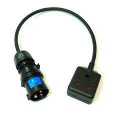 Enchufe industrial negro de 16 A a 15 A Ronda Pin Socket escenario Iluminación De Goma 1.5 mm
