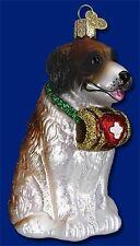SAINT BERNARD OLD WORLD CHRISTMAS BLOWN GLASS PUPPY DOG BREED ORNAMENT NWT 12378