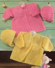 """Baby pu coats & Bonnets 4 plis 12 """" - 18"""" taille prématuré motif tricot"""