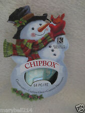K & Company Elizabeth Brown Vision of Christmas Snowman Chip box Alphabet New