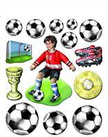 3D Wandsticker Wandtattoo Fußball Fußballer + Bälle, Pokal, Tor für Kinderzimmer