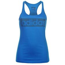 ADIDAS -Women's -Linear -Tank -Top -Ladies -GENUINE -Vest -TEE -SIZE- S-M-L