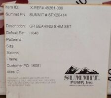 Summit SPX20414 GR Bearing Shim Set