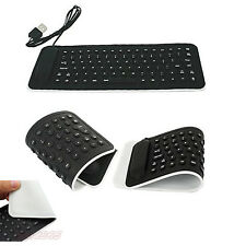 USB Wired Flexible Silicone Keyboard Foldable Pro Keypad For PC Laptop Notebook