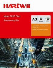 More details for a3 ohp film inkjet  overhead projector clear film with strip - 20sheets hartwii